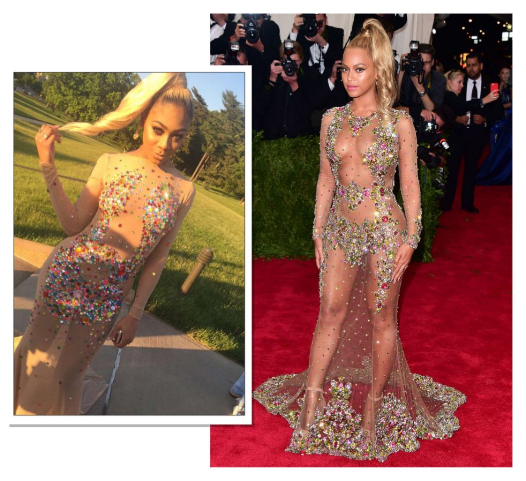 Minutes See Photos 12 Best Celebrity Inspired Prom Dresses