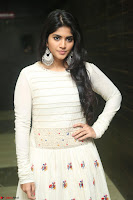 Megha Akash in beautiful White Anarkali Dress at Pre release function of Movie LIE ~ Celebrities Galleries 039.JPG
