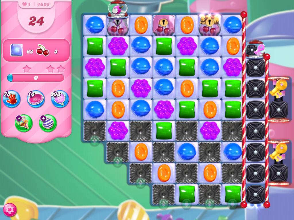 Candy Crush Saga level 4605