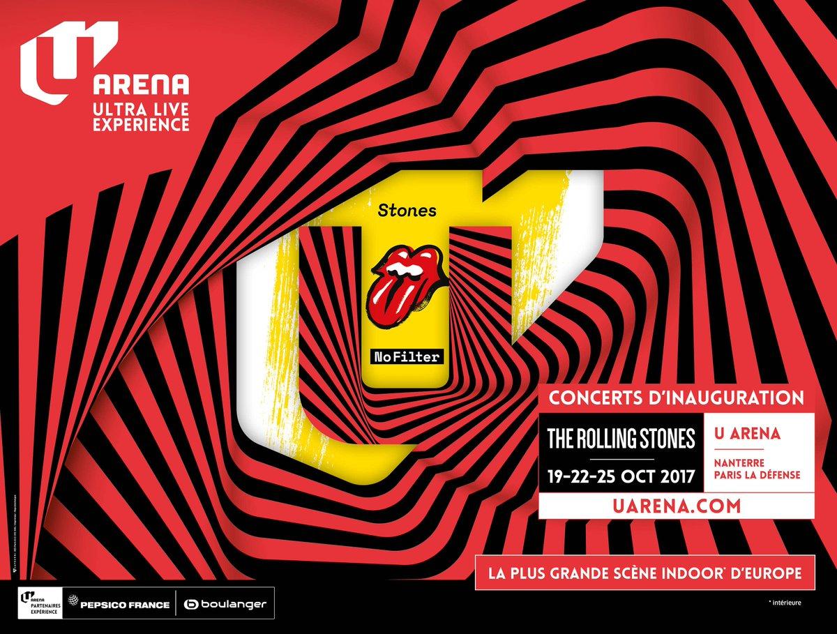 Rockerparis the rolling stones 1er concert u arena for Interieur u arena
