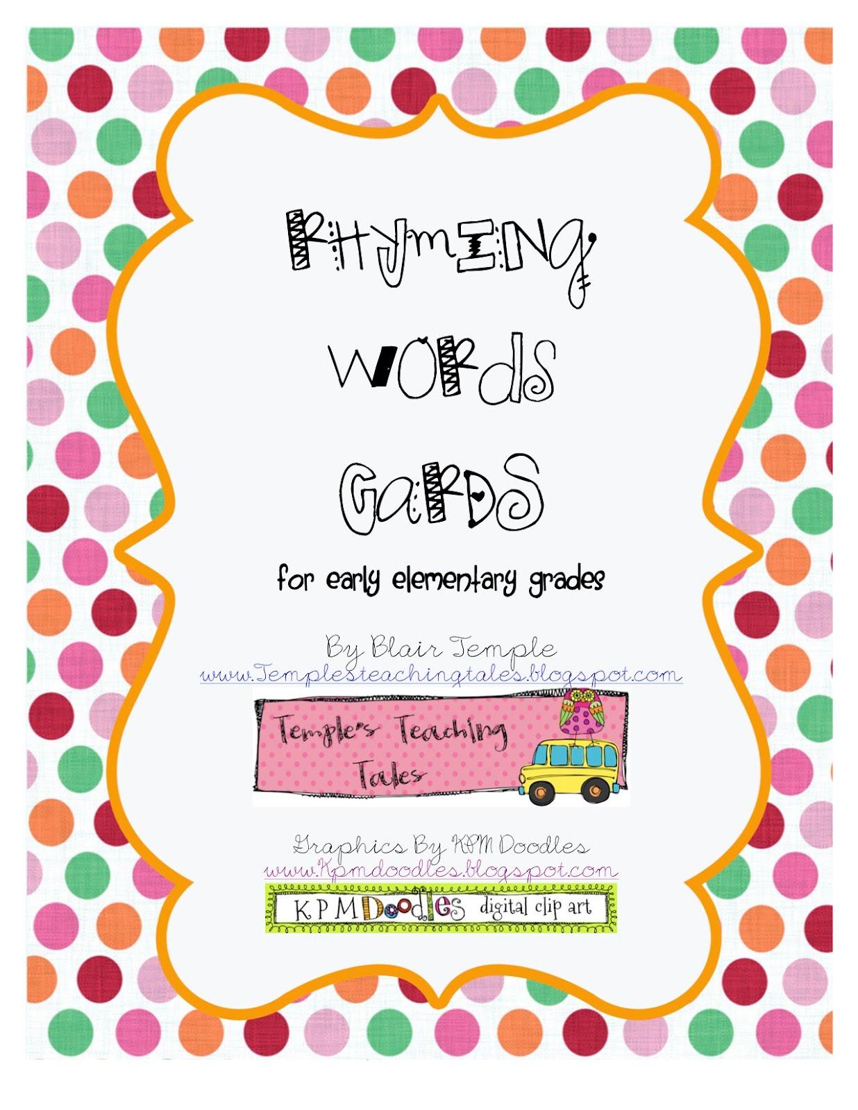 Rhyming Activities Online For Kindergarten