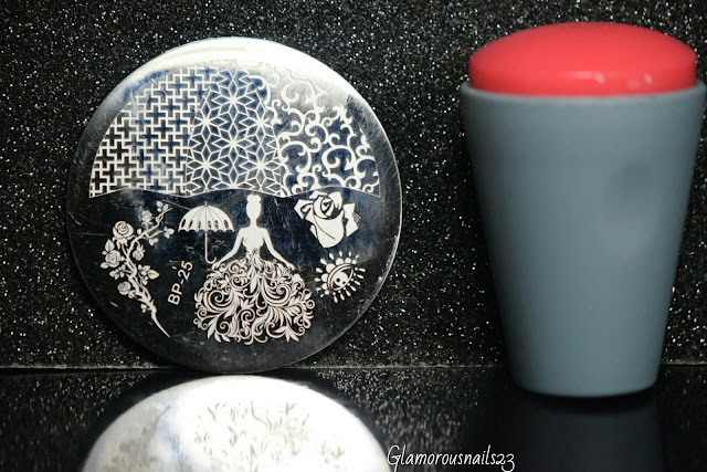 Born Pretty Store BP-25 Rose Queen Stamping Plate, Bundle Monster Mega Squishy Silicone Stamper