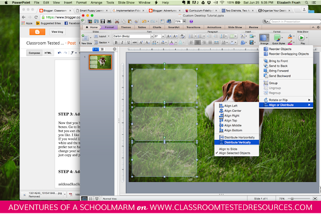 Learn how to make a personalized desktop organizer for your computer wallpaper with this quick and easy tutorial. Create custom wallpaper using your favorite photos! // Adventures of a Schoolmarm on Classroom Tested Resources