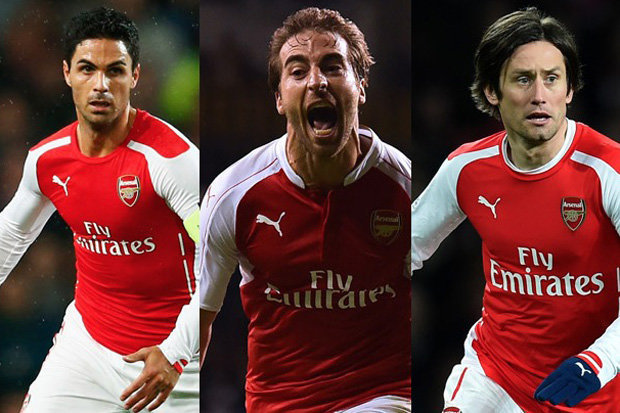 Tomas Rosicky, Mikel Arteta and Mathieu Flamini set to say goodbye to Arsenal
