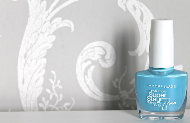 Maybelline Superstay Forever Strong Nail Polishes in Uptown Blue