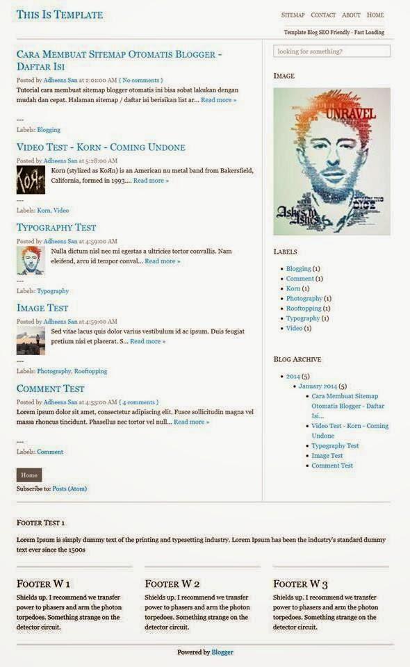 Template Blog Yang Seo Friendly, Ringan Dan Sederhana
