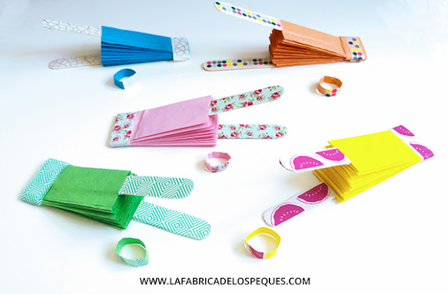 Manualidades infantiles Abanicos papel