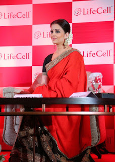 Aishwarya Rai In Red Saree During An Event