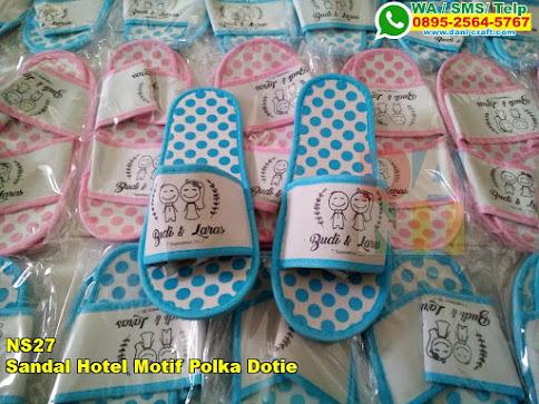 Grosir Sandal Hotel Motif Polka Dotie