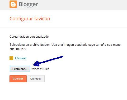 Cargar favicon personalizado en Blogger
