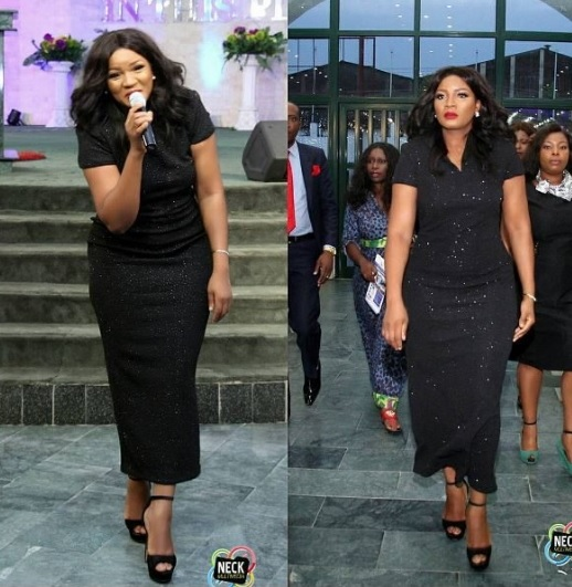 Omotola Jalade Worships God In Spirit At Victorious Army Women Conference In Ikeja Lagos