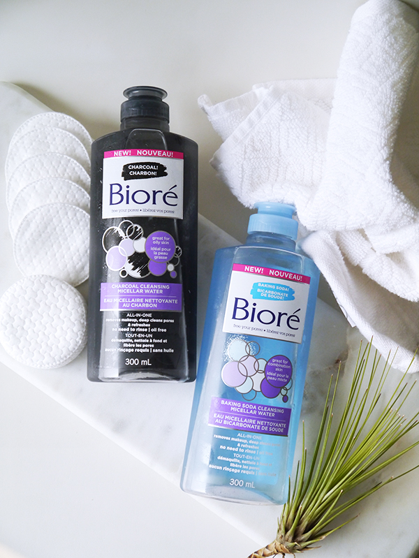 Biore Charcoal Cleansing Micellar Water and Baking Soda Cleansing Micellar Water
