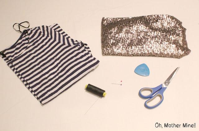 Como hacer una camiseta de lentejuelas DIY. Blog de moda, costura y DIY