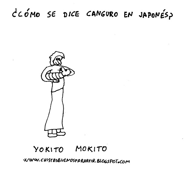 ¿Cómo se dice canguro en japonés? Yokito mokito