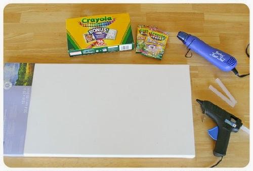 Cara Membuat Kerajinan Tangan | Lukisan Dinding Dari Krayon 1