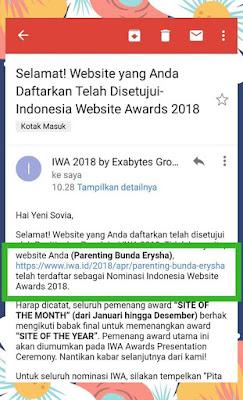 yeni sovia  adalah parenting blogger indonesia