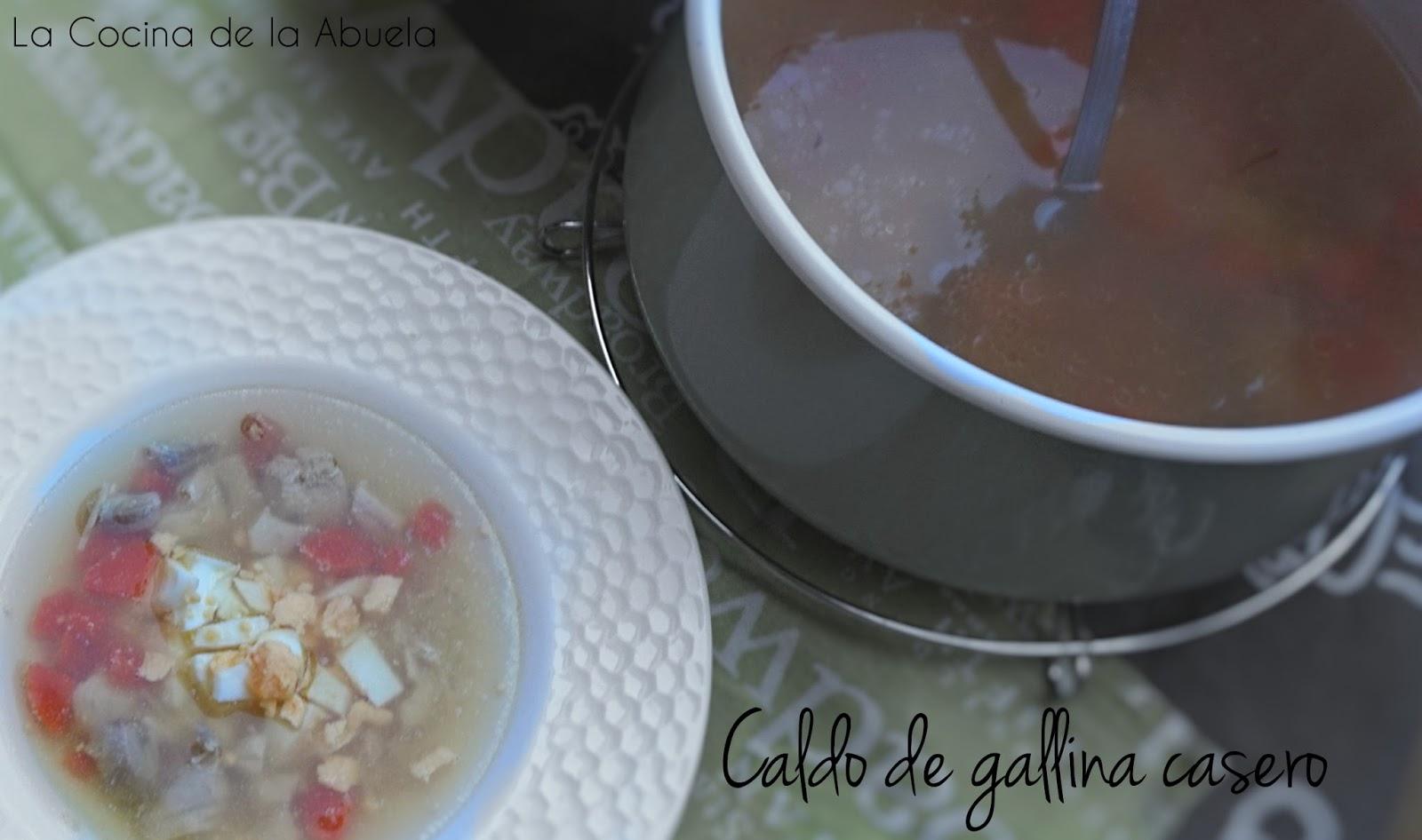 Caldo de gallina sopa receta casera for Cocina casera de la abuela