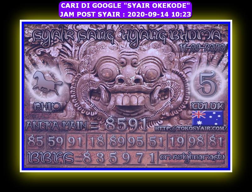 Kode syair Sydney Senin 14 September 2020 152