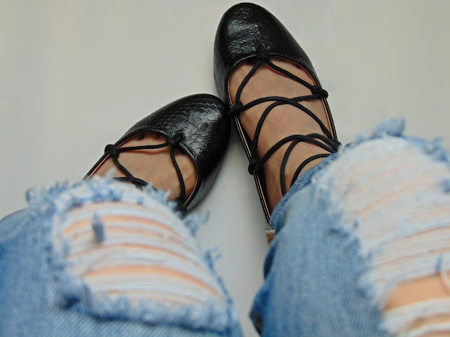 lace up balett shoes diy