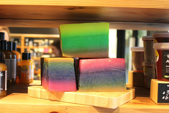 Layer Cake, a bright and colourful new soap available at Lush Nottingham