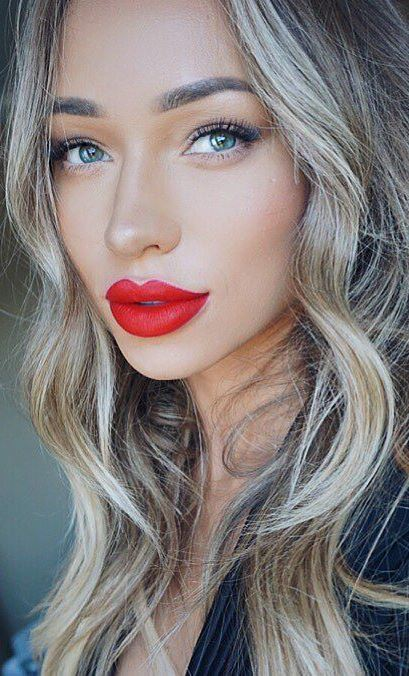 amazing make up: red lips