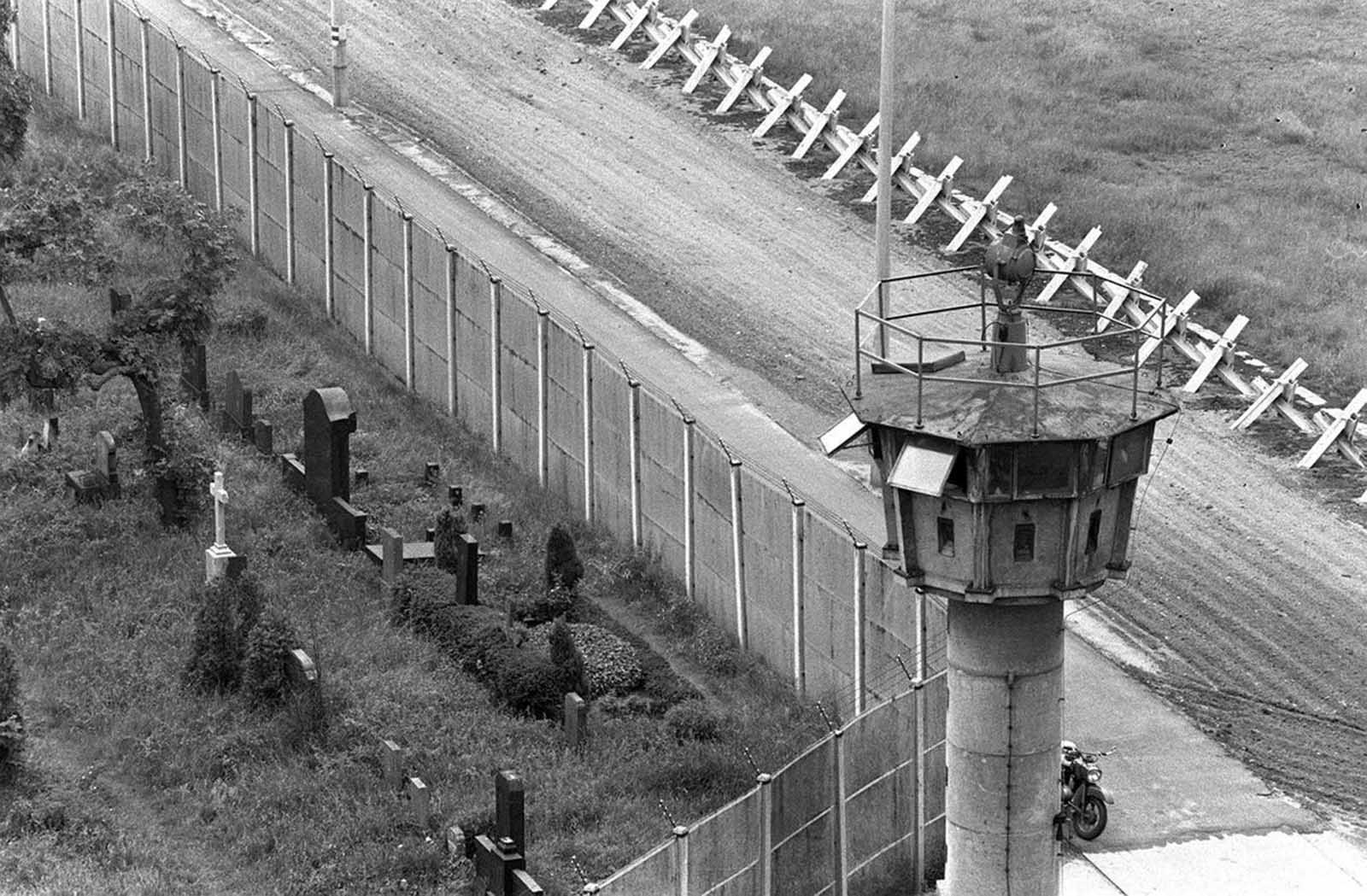 Aerial view of Berlin border wall, seen in this 1978 picture.