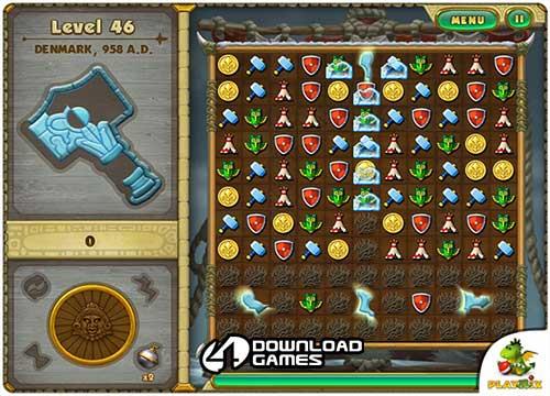 لعبة تجميع الاشكال والصور المتشابهة نداء العصور للكمبيوتر