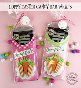 Hoppy Easter Pink Candy Bar Wrappers