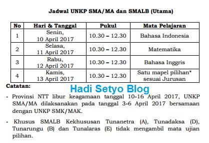 POS UN 2017 dan Jadwal UN SMP/MTs, SMA/MA dan SMK tahun 2017 pict