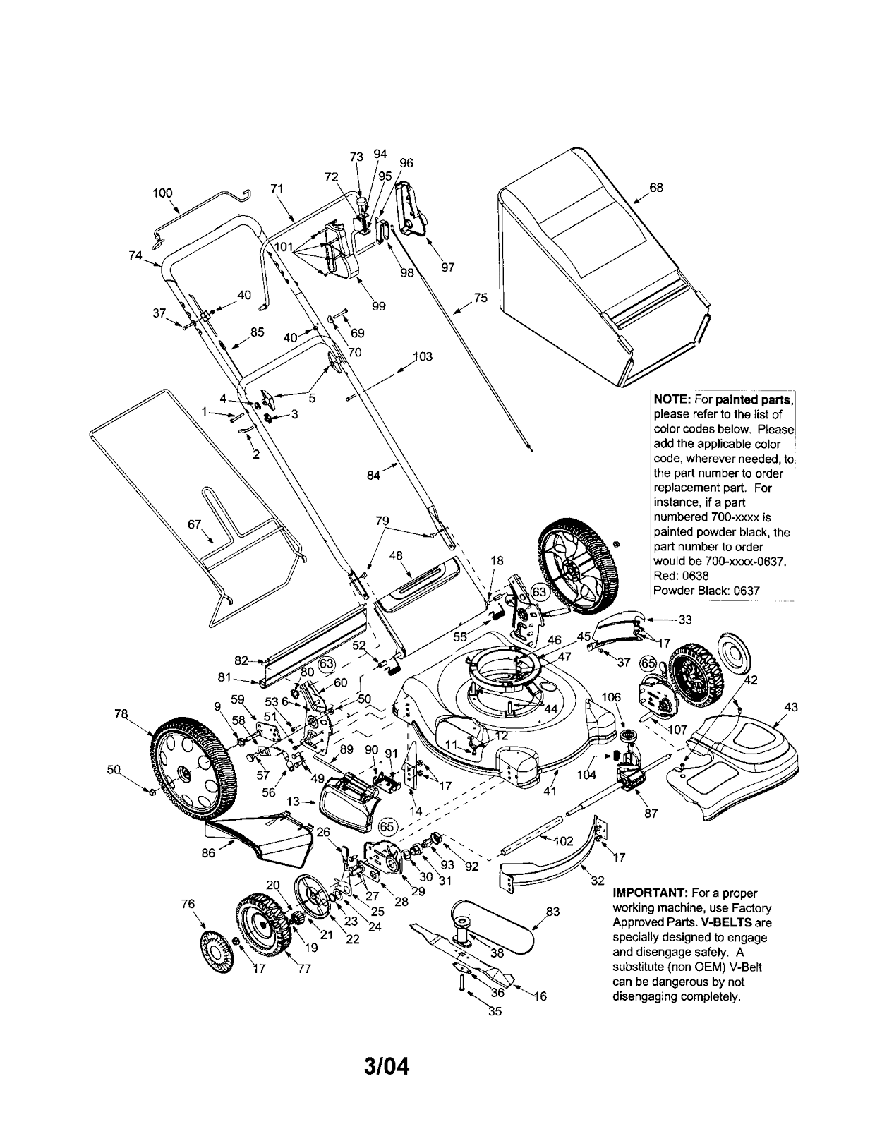 Lawn Chief Mower Part Diagram