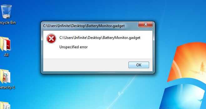User Accounts Unspecified Error