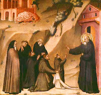 St Benedict Restores Life to a Young Monk, by Giovanni del Biondo St Benedict Restores Life to a Young Monk, by Giovanni del Biondo