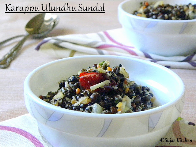 How to make Karuppu Ulundhu Sundal/ Whole Black Lentil Snack
