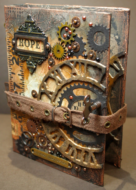 Steampunk Altered Book Cover