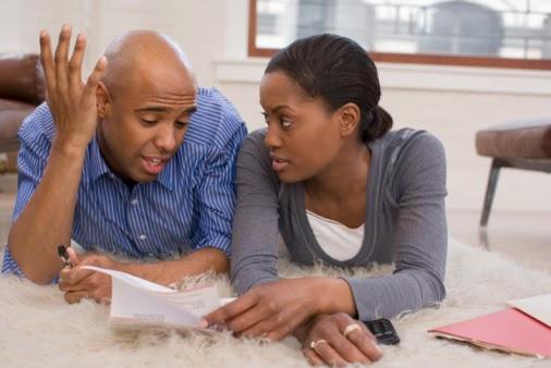 Have Black couple arguing