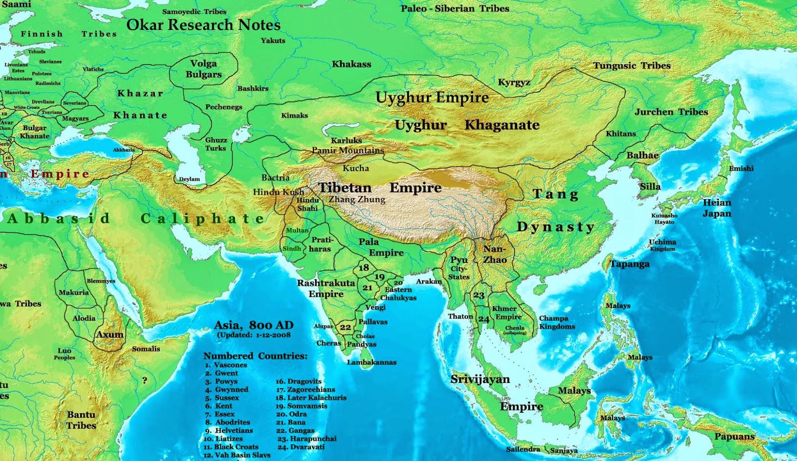 East Asia Kunlun Mts Map