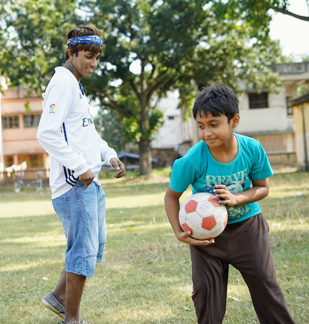 Sourajit Saha and Rick Playing Football 14