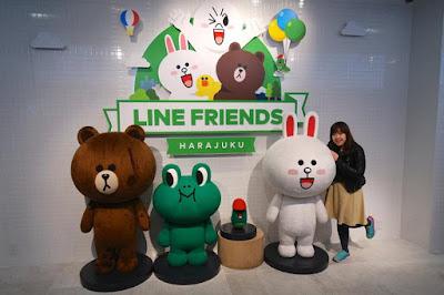 Line Friends Harajuku Store in Shibuya Tokyo
