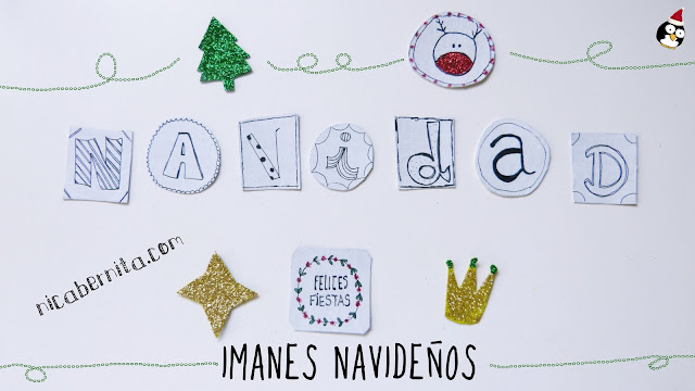 Manualidades para navidad. Imanes personalizados para la nevera. Nica Bernita