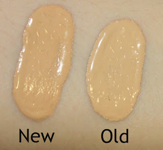Bourjois Healthy Mix Foundation: Old vs New Fomula review swatches application 51 light vanilla