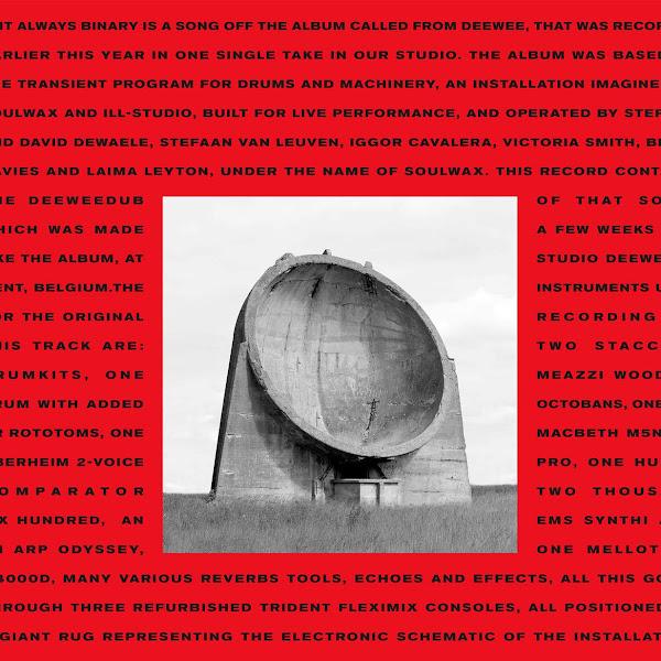 Soulwax - Is It Always Binary (Deeweedub) - Single Cover