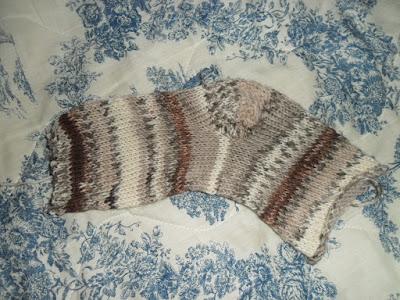 chaussette avec talon technique simple tricotin