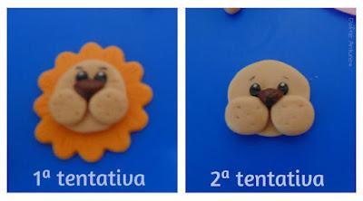 Cupcakes de leão - 2 tentativas