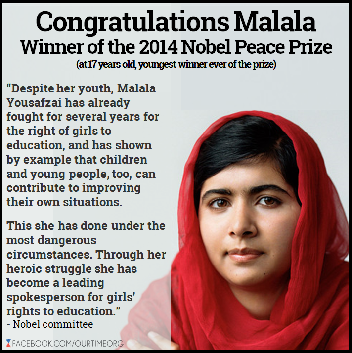 The Absent Librarian: Malala Yousafzai Wins Nobel Peace Prize