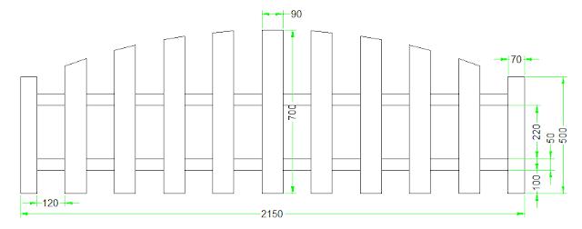 latihan autocad 2d - membuat gambar pagar