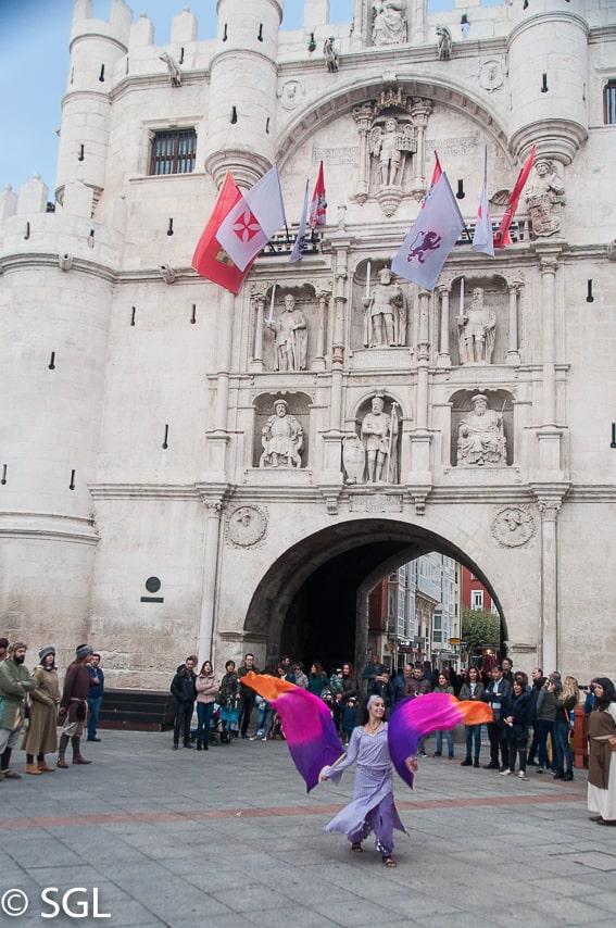 Arco de Santa Maria, fin de semana cidiano. Burgos