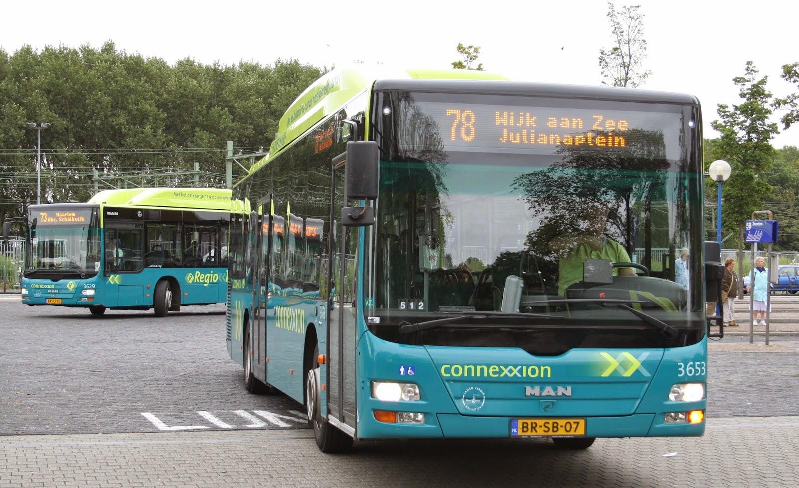 openbaar busvervoer haarlem amsterdam
