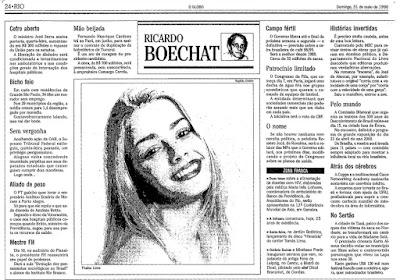 coluna de Boechat no jornal O Globo