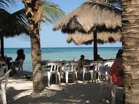beautiful beach in Playa del Carmen