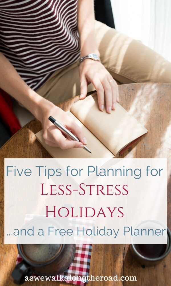 Less-stress holiday planner